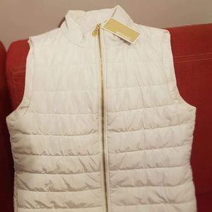 A white Michael kors vest